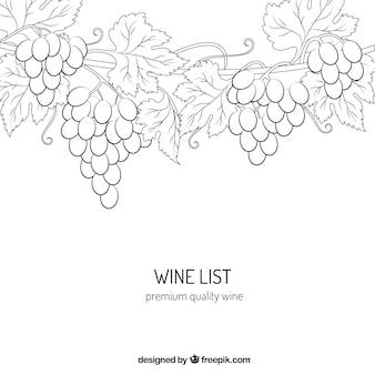 Dibujo de vino de primera calidad