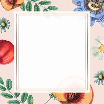 Dibujo vintage floral verano marco