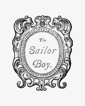 El dibujo vintage marinero.