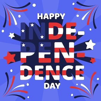 Dibujos animados del 4 de julio - ilustración del día de la independencia