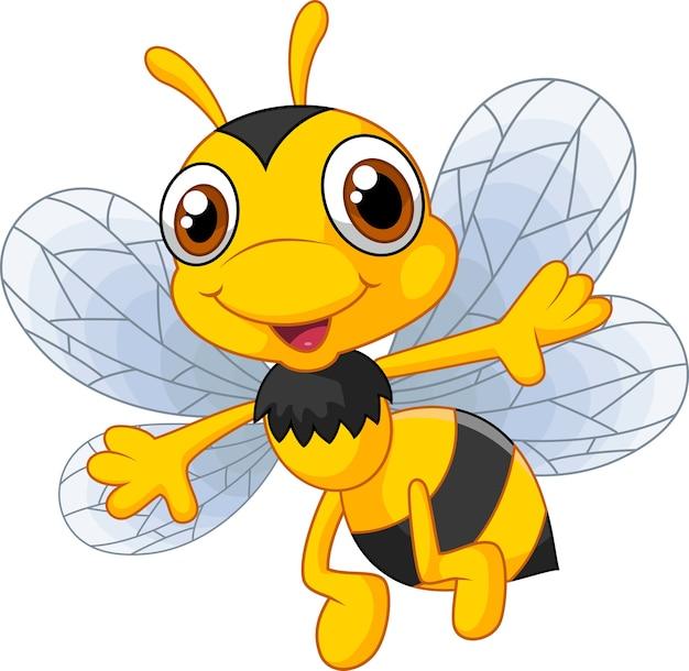 Dibujos animados de abejas lindas