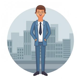 Dibujos animados de abogado ejecutivo