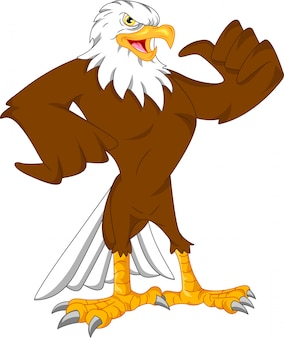Dibujos animados de águila pulgares arriba