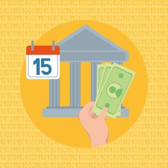 Dibujos animados de ahorro de dinero