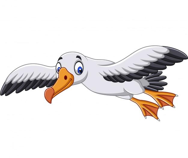 Dibujos animados de albatros volando