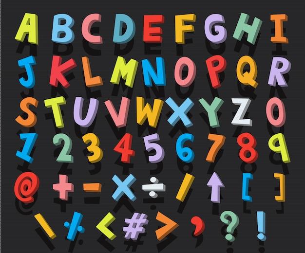 Dibujos animados del alfabeto