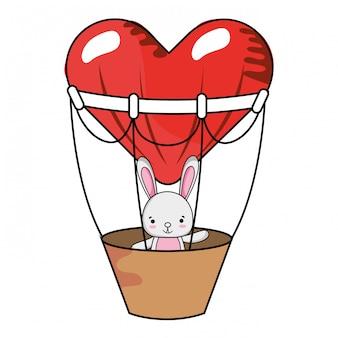 Dibujos animados de amor y animales.