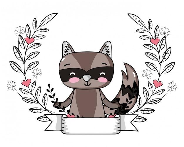 Dibujos animados de amor y animales