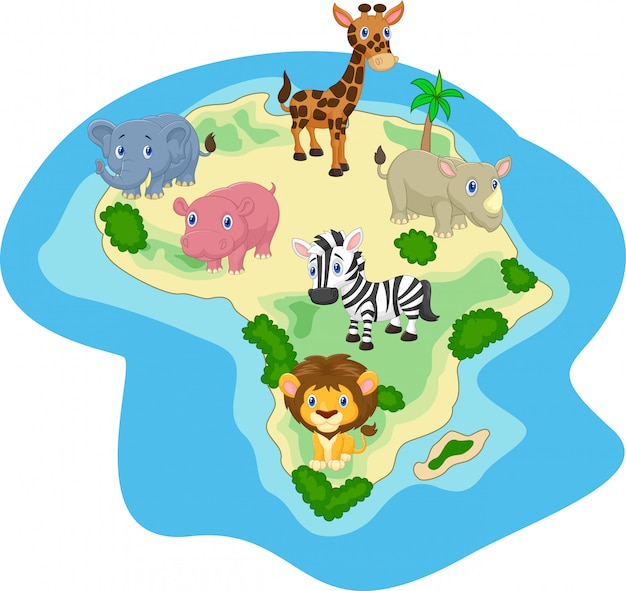 Dibujos animados de animales africanos