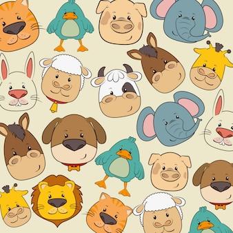 Dibujos animados de animales y mascotas.
