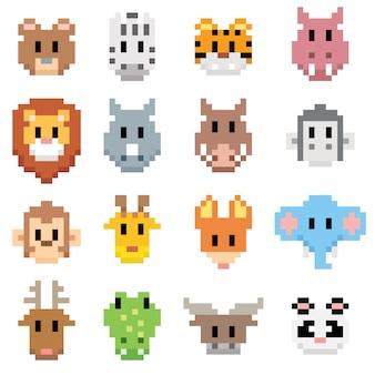 Dibujos animados de animales - pixel art