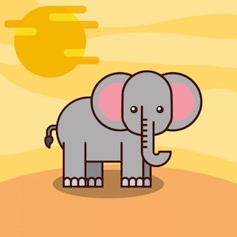 Dibujos animados de animales de safari
