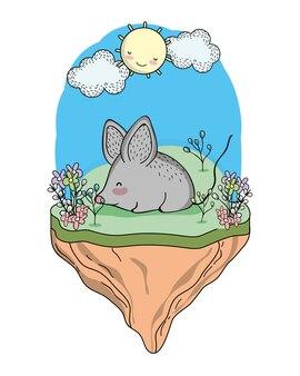 Dibujos animados de animales salvajes de ratón