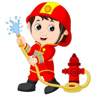 Dibujos animados de bombero