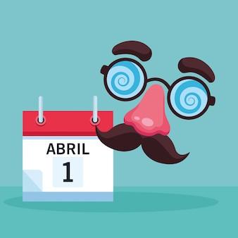 Dibujos animados de broma de los tontos de abril