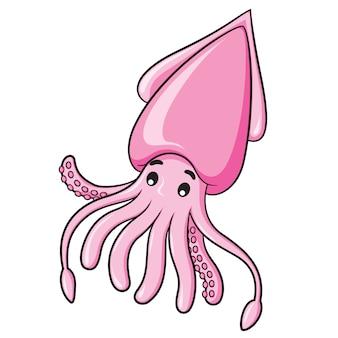 Dibujos animados de calamar