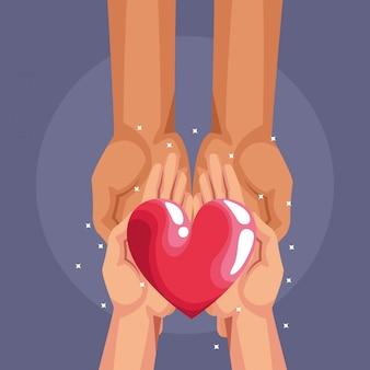 Dibujos animados de caridad donación de sangre