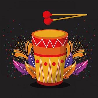 Dibujos animados de carnaval y fiesta