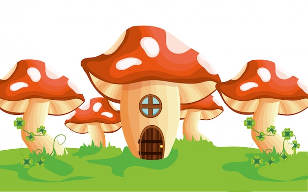 Dibujos animados de casa de setas crudas