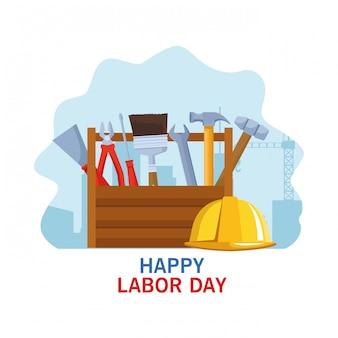 Dibujos animados de celebración del día del trabajo usa