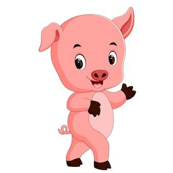 Dibujos animados de cerdo divertido