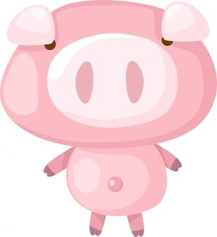 Dibujos animados de cerdo vector illustrationv