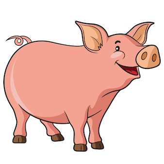 Dibujos animados de cerdo