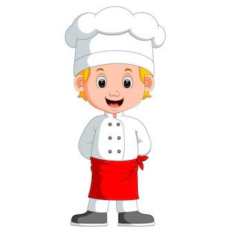 Dibujos animados de chef chico