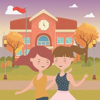 Dibujos animados de chicas adolescentes