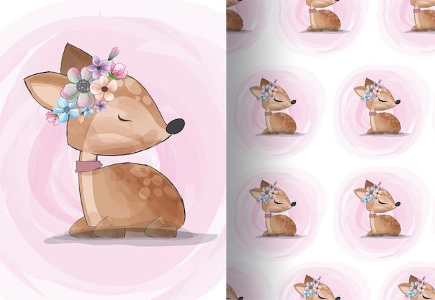Dibujos animados de ciervos animales muy lindo