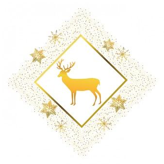 Dibujos animados de ciervos de navidad