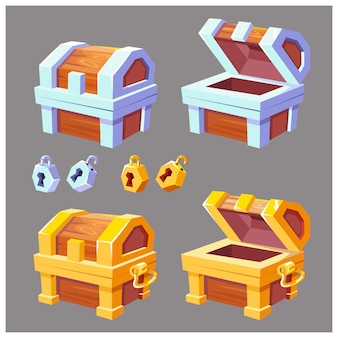 Dibujos animados del cofre del tesoro