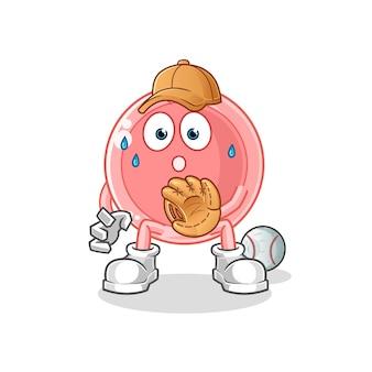 Dibujos animados de colector de béisbol de óvulo
