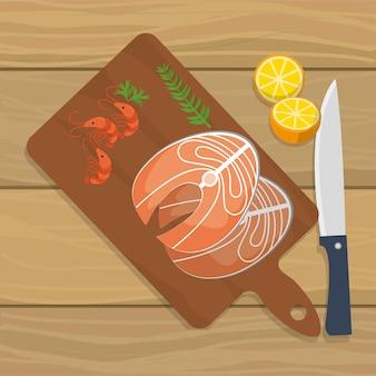 Dibujos animados de comida deliciosa