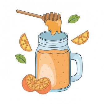 Dibujos animados de comida saludable deliciosa
