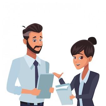 Dibujos animados de compañeros de trabajo ejecutivo empresarial