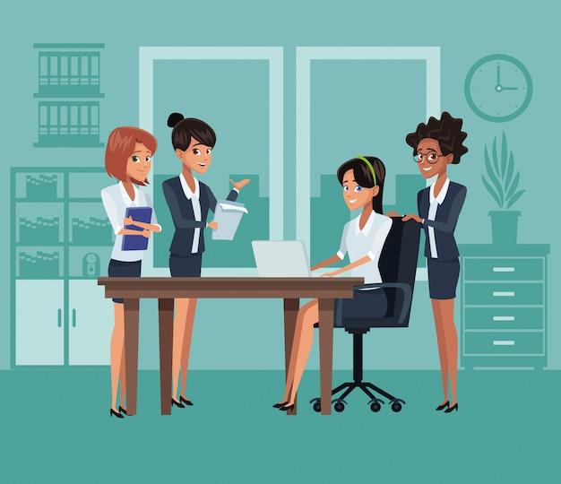 Dibujos animados de compañeros de trabajo de negocios