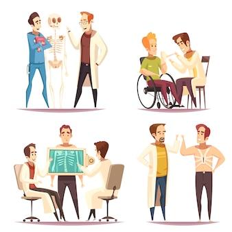 Dibujos animados de concepto 4 de ortopedista
