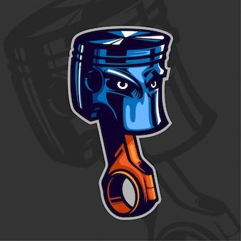 Dibujos animados de concepto de diseño de personaje de pistón