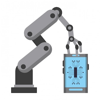 Dibujos animados de concepto de iconos de inteligencia artificial