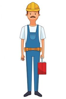Dibujos animados de constructor de construcción