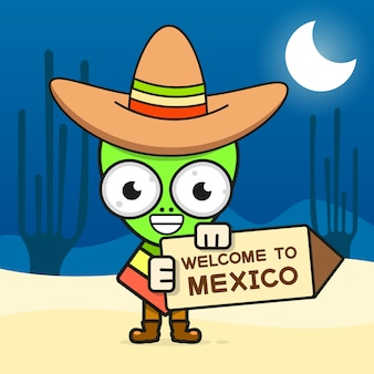 Dibujos animados cráneo mexicano ilustración para el día de los muertos