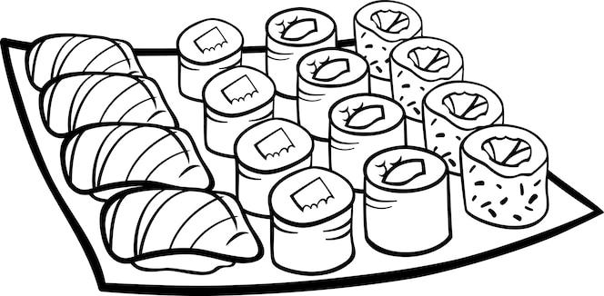 Vistoso Kawaii Sushi Para Colorear Regalo Ideas Para
