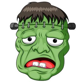 Dibujos animados de cabeza frankenstein