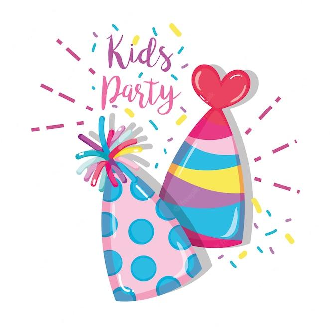 Dibujos animados de fiesta de niños