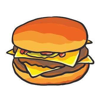 Dibujos animados de hamburguesa