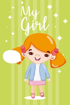 Dibujos animados de mi niña