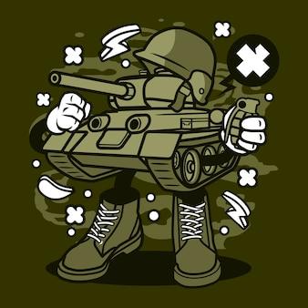 Dibujos animados de tanque