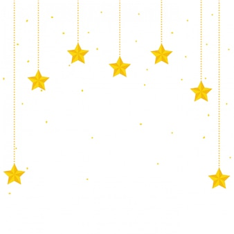 Dibujos animados de decoración de estrellas del espacio