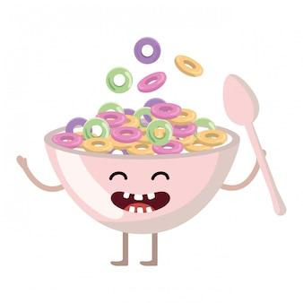 Dibujos animados deliciosa comida sabrosa